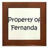 Unique Fernanda Framed Tile