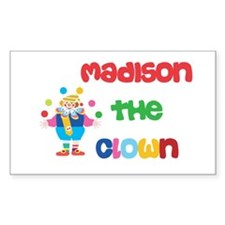 Madison - The Clown Rectangle Decal