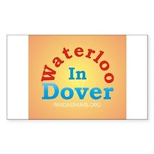 Waterloo In Dover Rectangle Decal