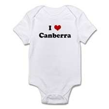 I Love Canberra Infant Bodysuit