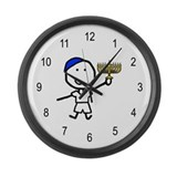 Boy & Hanukkah Large Wall Clock