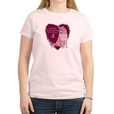 Pink Ribbon Huskys T-Shirt
