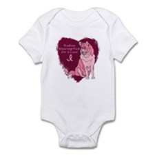 Pink Ribbon Huskys Infant Bodysuit