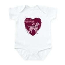 Pink Ribbon Dalmatian Infant Bodysuit