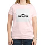 SUPER PARTY-LEADER Women's Pink T-Shirt