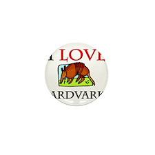I Love Aardvarks Mini Button (10 pack)