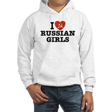 I Love Russian Girls Hoodie