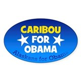 Caribou for Obama sticker