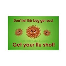 Flu Rectangle Magnet (10 pack)