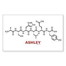 Ashley name molecule Rectangle Decal