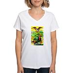 An American Thanksgiving Women's V-Neck T-Shirt