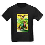 An American Thanksgiving Kids Dark T-Shirt