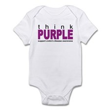Think Purple: Crohn's Disease Infant Bodysuit