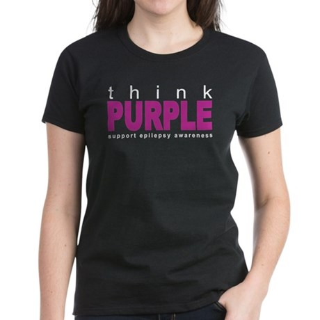 Think Purple: Epilepsy Women's Dark T-Shirt