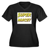 Super macey Women's Plus Size V-Neck Dark T-Shirt