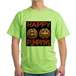 Happy Pumpkins Green T-Shirt