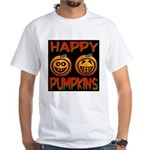 Happy Pumpkins White T-Shirt
