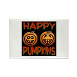 Happy Pumpkins Rectangle Magnet (100 pack)