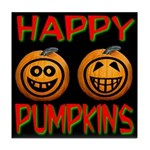 Happy Pumpkins Tile Coaster