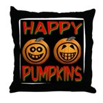 Happy Pumpkins Throw Pillow
