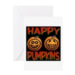 Happy Pumpkins Greeting Card