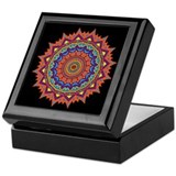VIBRANT ORANGE (BLACK) MAGIC CIRCLE Keepsake Box