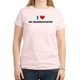 I Love My Granddaughter Women's Pink T-Shirt