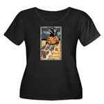 Joyous Halloween Women's Plus Size Scoop Neck Dark