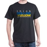 Think Blue And Yellow T-Shirt