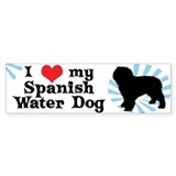 I Love My Spanish Water Dog Bumper Bumper Sticker