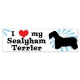 I Love My Sealyham Terrier Bumper Car Sticker