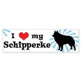 I Love My Schipperke Bumper Bumper Sticker