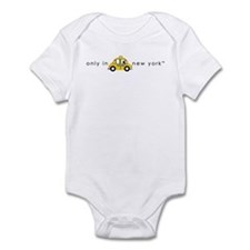 Only In New York Taxi_cartoon Infant Bodysuit