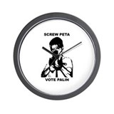 Sarah Palin-Screw Peta Wall Clock