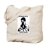 Sarah Palin-Screw Peta Tote Bag
