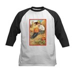 Pumpkin Carving Kids Baseball Jersey