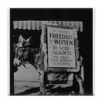 Suffragists Against Democrats 1916 Tile Coaster