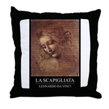 La Scapigliata Throw Pillow