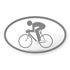 """Cyclist"" - Oval Decal"