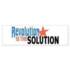 Revolutiion is the Solution Bumper Sticker (50 pk)