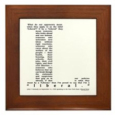 JFK Liberal Quote Framed Tile