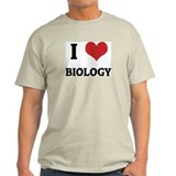 I Love Biology Ash Grey T-Shirt
