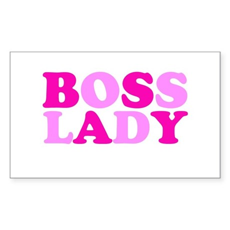 BOSS LADY pink Rectangle Sticker