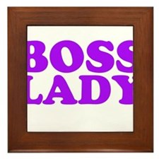 BOSS LADY PURPLE Framed Tile