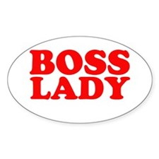 BOSS LADY RED Oval Sticker (50 pk)