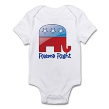 Raised Right Red/Blue Infant Bodysuit