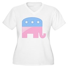 Pink/Blue Elephant T-Shirt