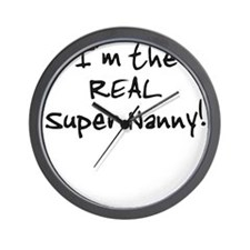 I'm the Super Nanny - Twins Wall Clock