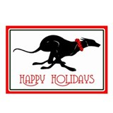 Greyhound Happy Holidays Postcards (pkg of 8)