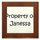 Unique Janessa Framed Tile